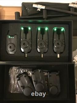 Fox Mini Micron X 3 Rod Alarm & Récepteur Ensemble Batteries Gratuites