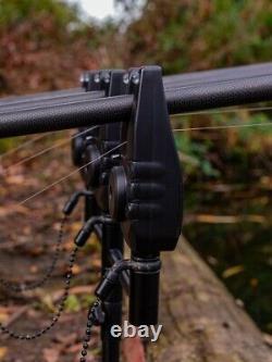 Fox Mini Micron X 3 Rod Set New Carp Fishing Bite Alarmes Ensemble De 3 + Récepteur