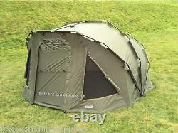 Full Carp Fishing Set Up 2 Homme Bivvy 2 Rods Reels Sac Alarme Tackle Lit Chaise Net