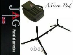 Jag Micro Pod Carp Peaching Rod Pod Compact Poids Léger Noir