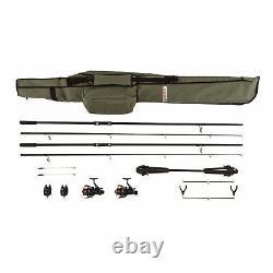 Mitchell Carp Fishing Kit Set Rods Freerunner Reels Pod Alarms Rod Bag Rrp £149