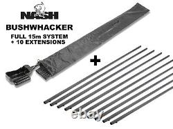Nash Bushwhacker Baiting Pole System + 10 Sections Supplémentaires Brand New Free P&p