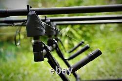 Nd Tackle Bite D'alarme Sans Fil S9 4rod Set Rechargeable Pêche À La Carpe Indicateur