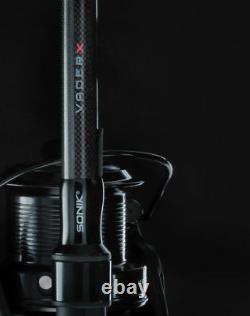 New Sonik Vader X Carp Rod 12ft Ou + Vader X 13ft 8000 Reel Toutes Les Courbes De Test