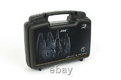 Nouveau Fox Micron MX 3 Jeu De Tige Alarm And Receiver Cei192 Carp Fishing