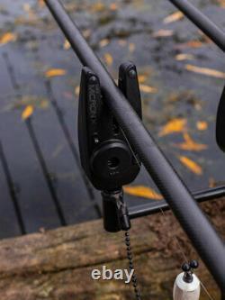 Nouveau Fox Mini Micron X 3 Tige Présentation Set Incl Récepteur Carp Fishing