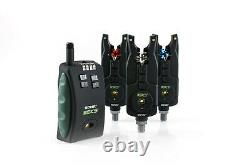 Nouveau Sonik Sks Alarms & Receiver 3 Rod Set + Free Bivvy Lamp Incl Carry Case