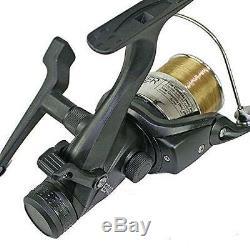 Pêche À La Carpe Complète 2 Rod Set Up Reels Avec Carryall Holdall Pod Alarm Tackle