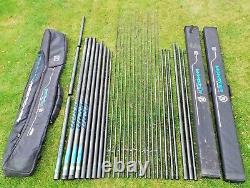Preston Responce Xs90 16m Poteau + 12 Meilleurs Kits Kit De Cupping Pièces Détachées Kit Cas