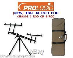 Prologic 2020 Tri-lux Rod Pod Pour La Carpe Canne À Pêche Big Pit Reels 3 Ou 4 Rod Rest