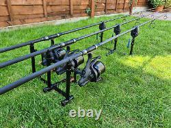 Quest Trilogy Pod Bank Sticks Carp Fishing Rod Pod Avec Sac De Transport Zippé