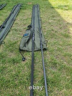Shimano 13ft Tx-2 Intensity Carp Rods X 3 + Manches Aqua Rod X 3