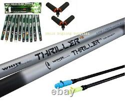 Thriller 8.5m White Knuckle Fishing Pole 2 Top Kits Elastic + 10 Rigs + 2 Roller
